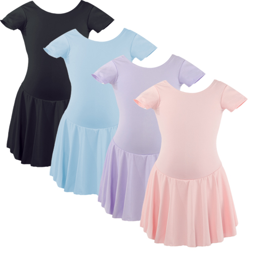 Liesl Child Basic Short Sleeve Full Nylon Ballet Dress