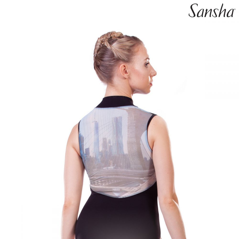 Sansha Brooklyn Bridge Mesh Back Leotard