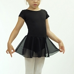 Basic Short Sleeve Skirted Leotard 511DR