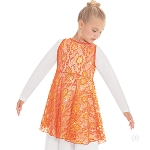 Eurotard Girls Heavenly Lace Peplum Praise Tunic 65568c