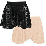 Liesl Child Lace Pull On Skirt