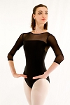 Mesh 3/4 Sleeve Leotard