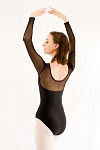 Mesh Long Sleeve Leotard