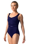 So Danca Tank w/Shiny Piping Leotard RDE1824