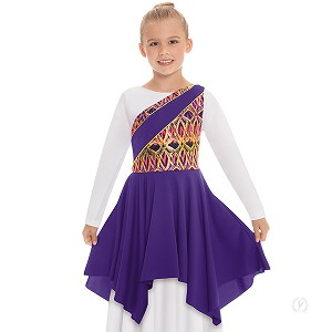 Eurotard Girls Joyful Praise One Shoulder Worship Tunic 63567c
