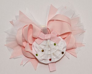 Hairbow Grosgrain w/2nd Clip Fan