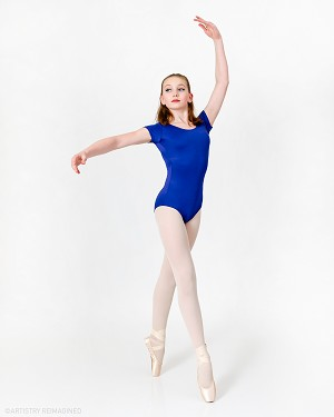 Liesl Short Sleeve Basic Leo - Delila from Manassas Ballet Academy - Image by Artistry Reimagined